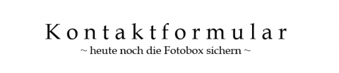 Kontaktformular Fotobox